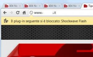 blocco del plugin Flash Player:Shockwave-Flash