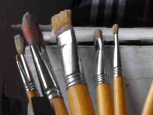 pulire i pennelli sporchi